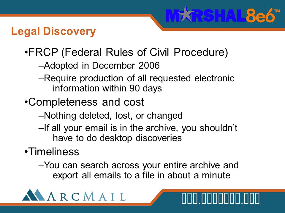 FRCP (Federal Rules of Civil Procedure)