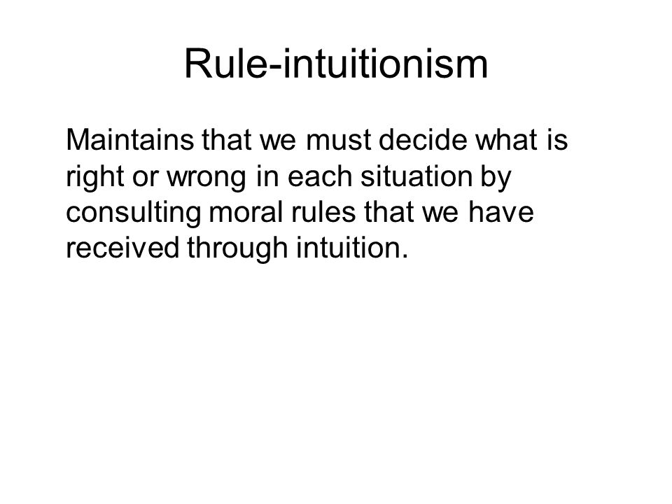 Rule-intuitionism