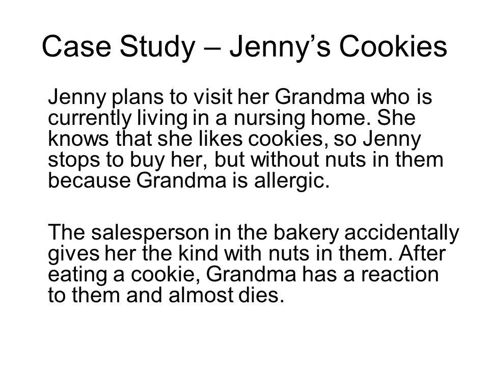 Case Study – Jenny's Cookies