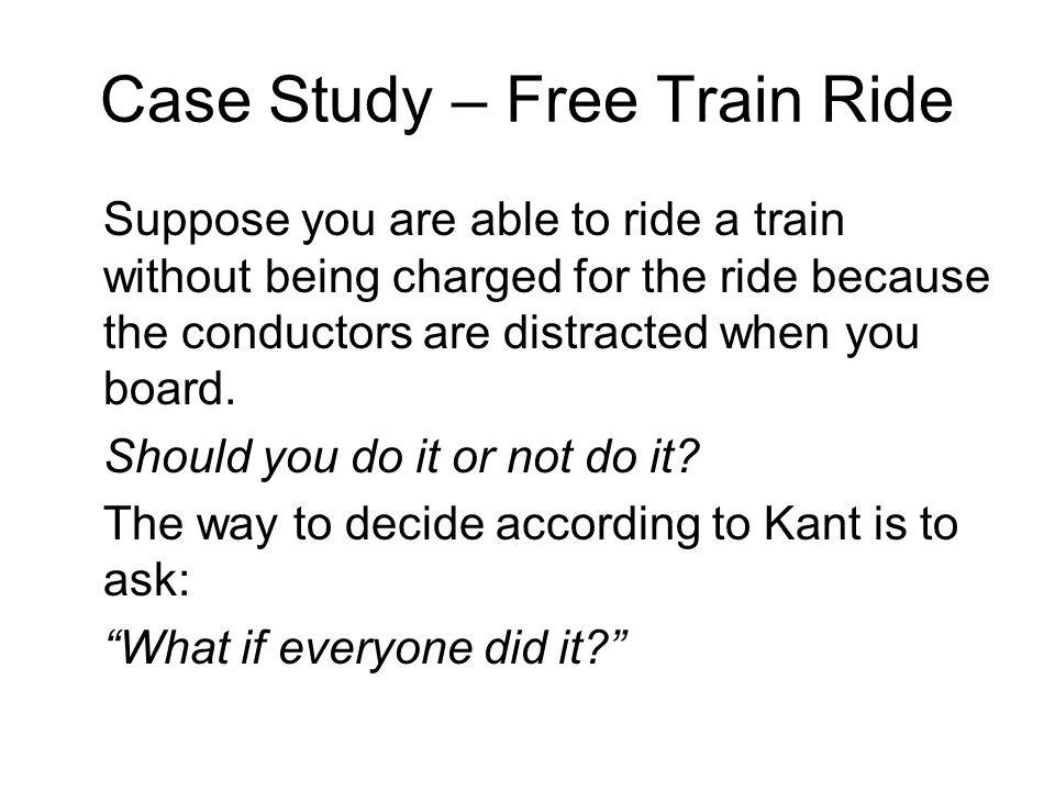 Case Study – Free Train Ride