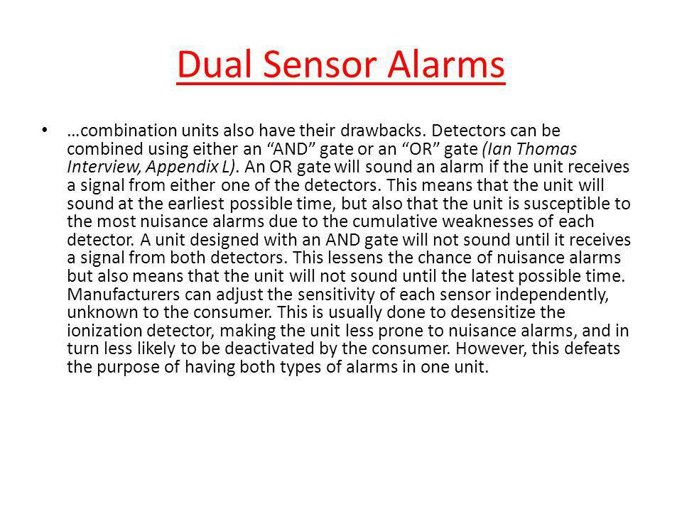 Dual Sensor Alarms