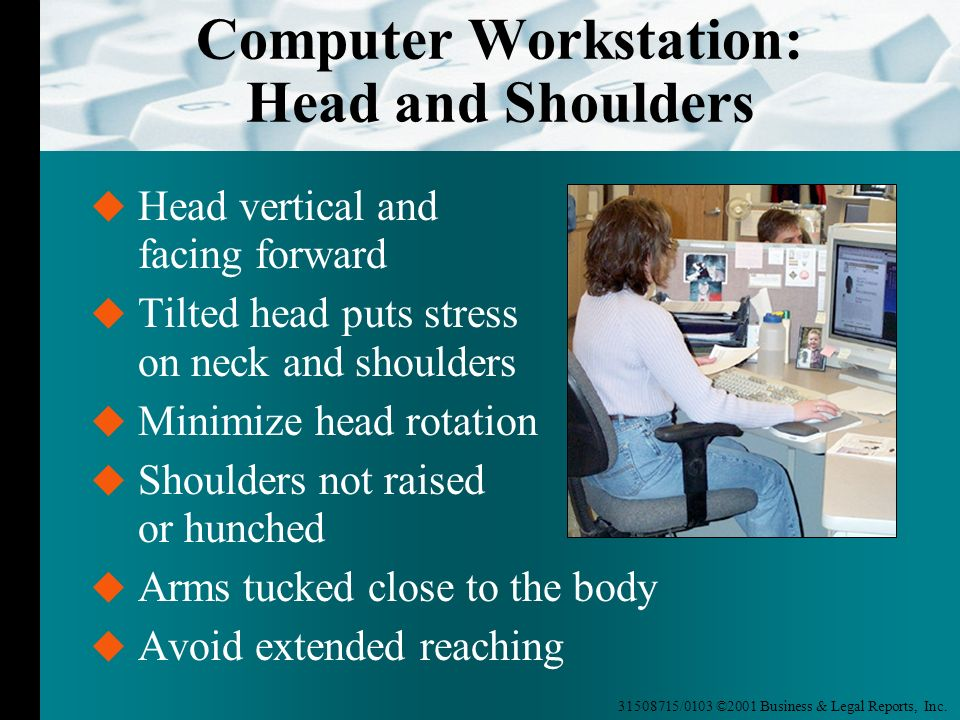Computer Workstation: Head and Shoulders