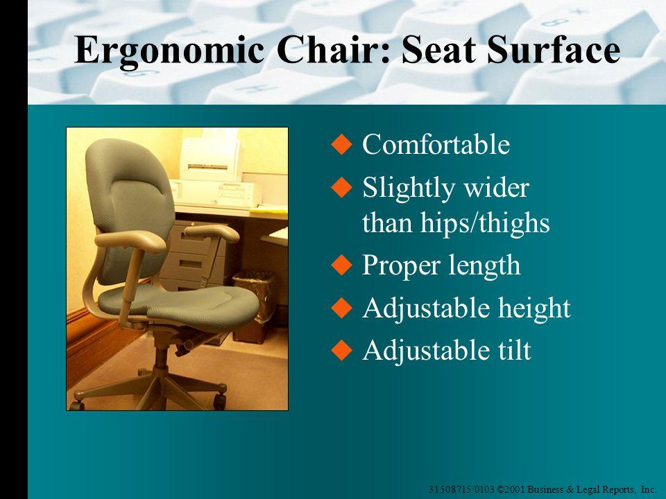 Ergonomic Chair: Seat Surface