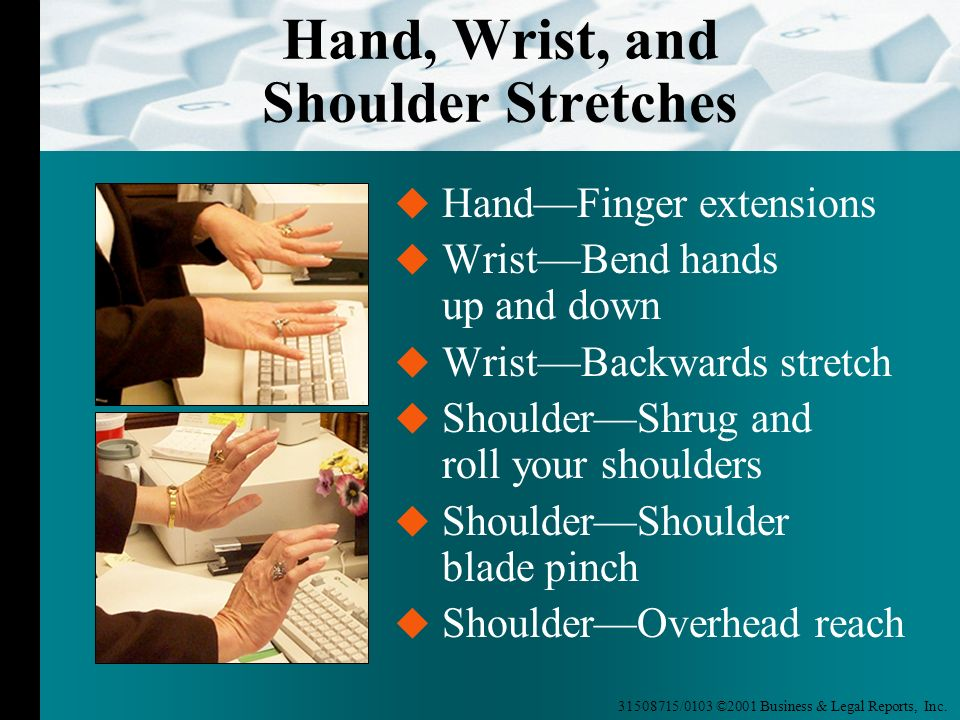 Hand, Wrist, and Shoulder Stretches