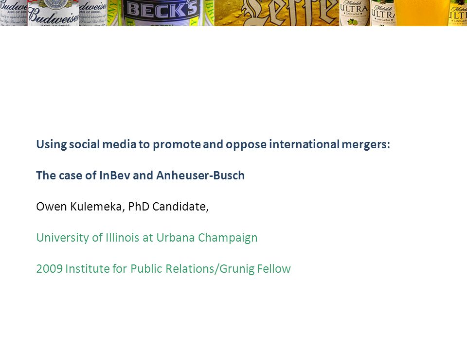 Using social media to promote and oppose international mergers: