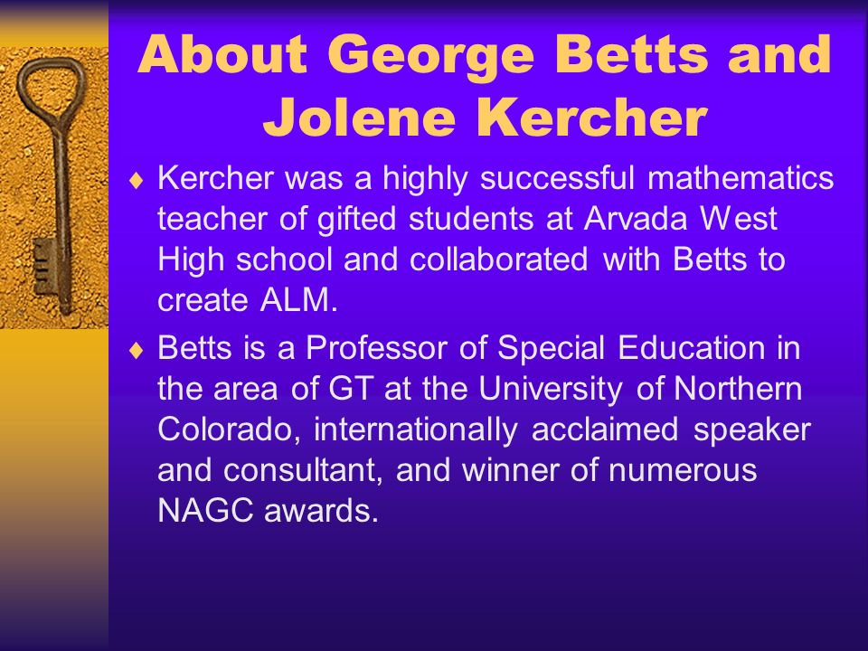 About George Betts and Jolene Kercher