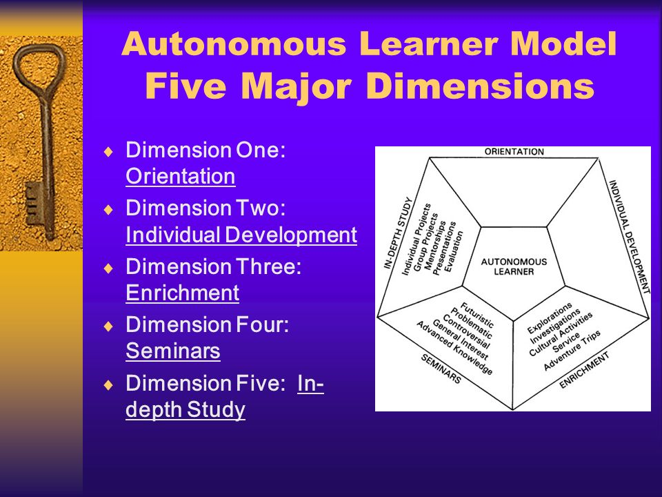 Autonomous Learner Model Five Major Dimensions