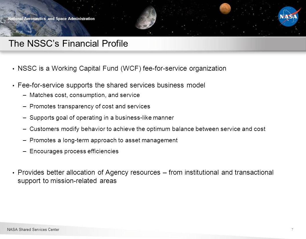 The NSSC's Financial Profile