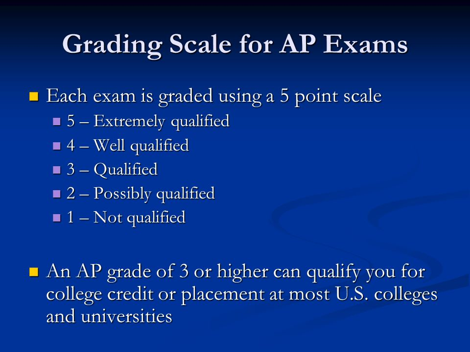 Grading Scale for AP Exams