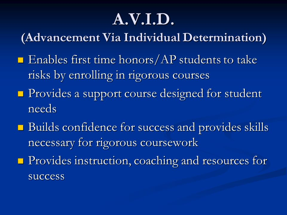 A.V.I.D. (Advancement Via Individual Determination)