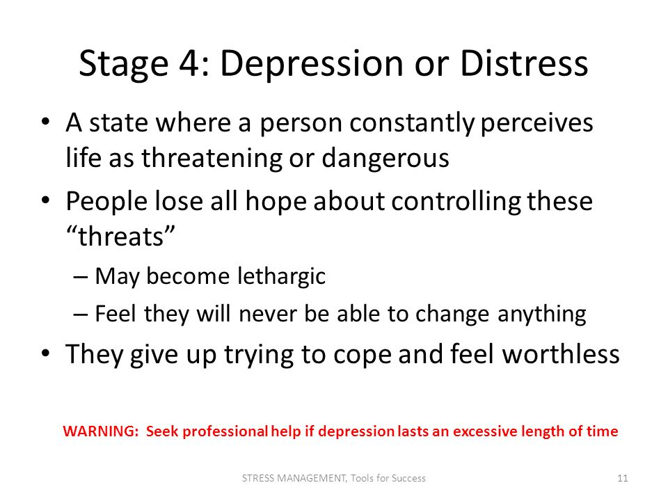 Stage 4: Depression or Distress