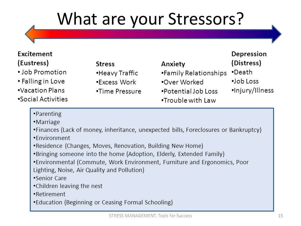 What are your Stressors