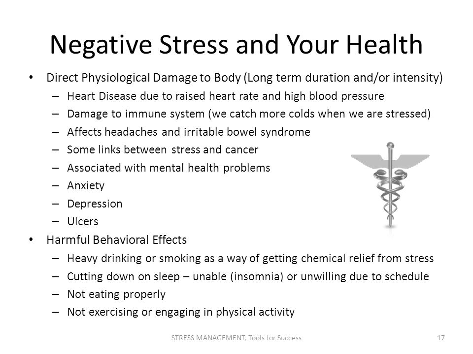 Negative Stress and Your Health