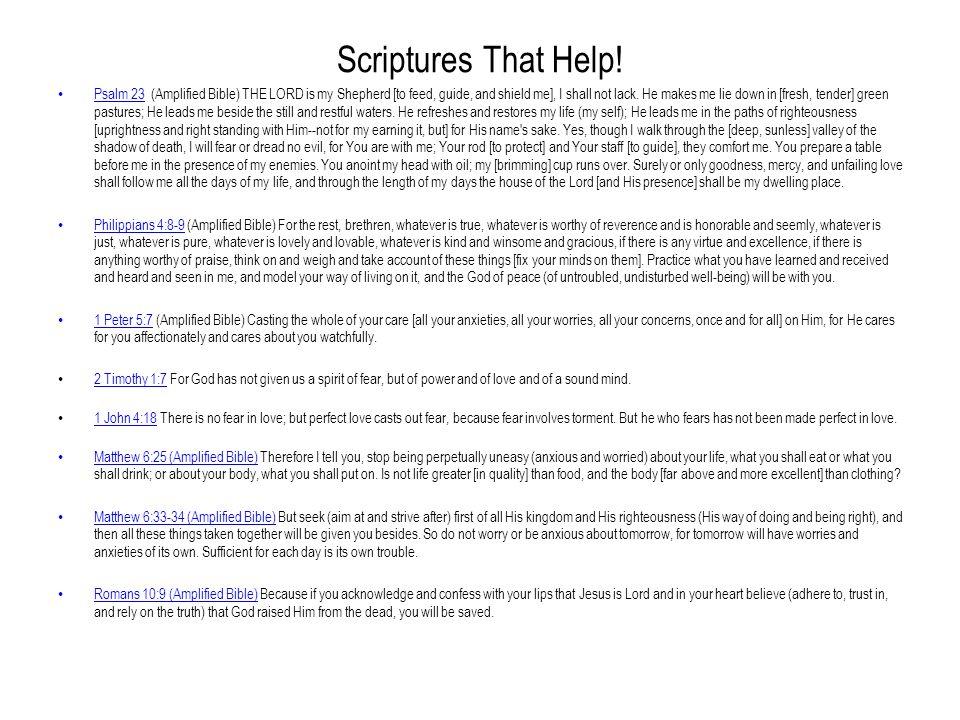 Scriptures That Help!
