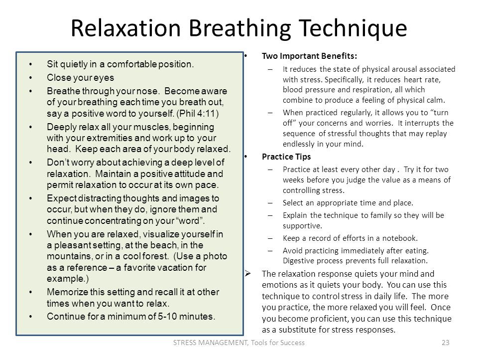 Relaxation Breathing Technique