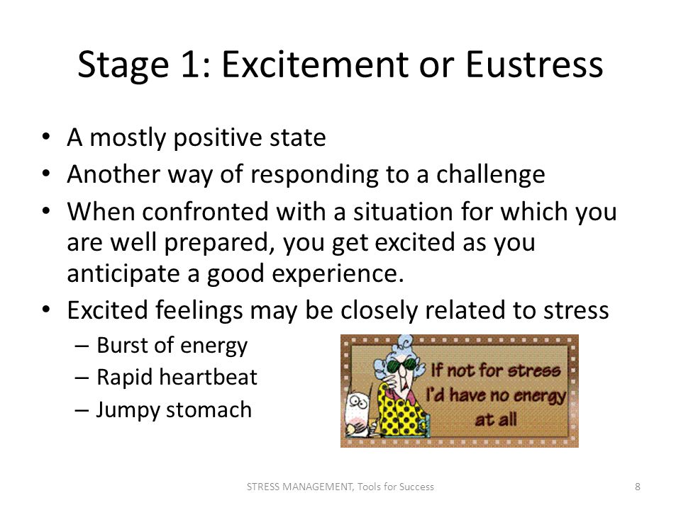 Stage 1: Excitement or Eustress