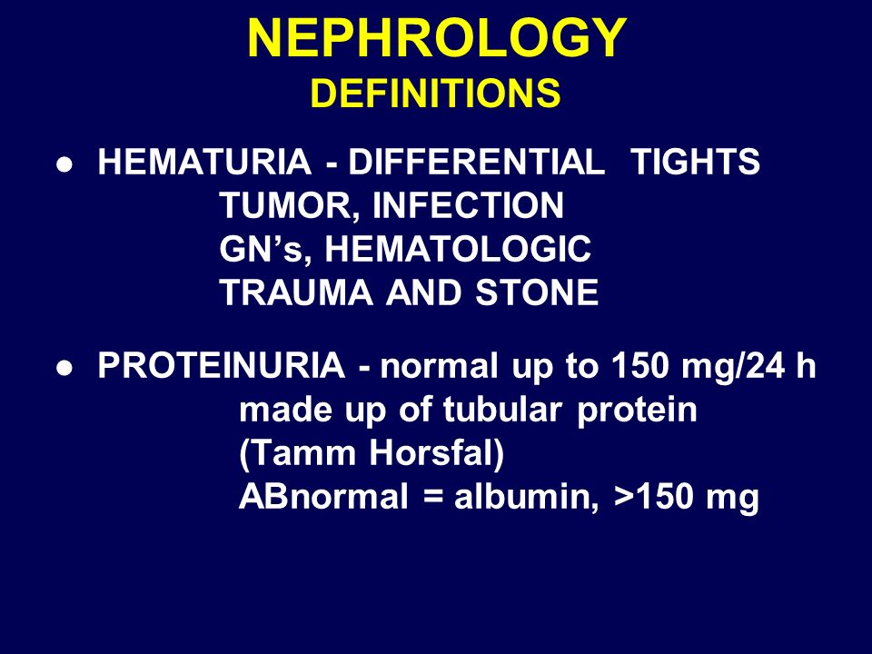 NEPHROLOGY DEFINITIONS