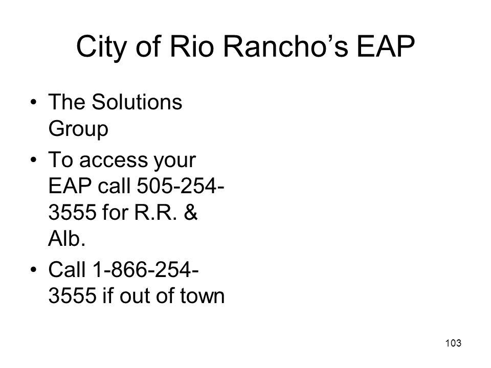 City of Rio Rancho's EAP