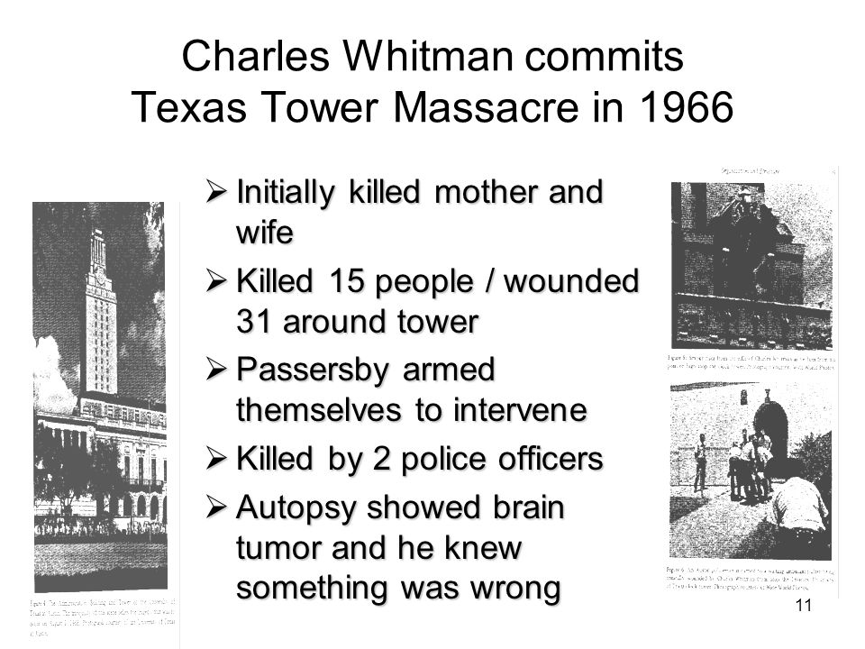 Charles Whitman commits Texas Tower Massacre in 1966