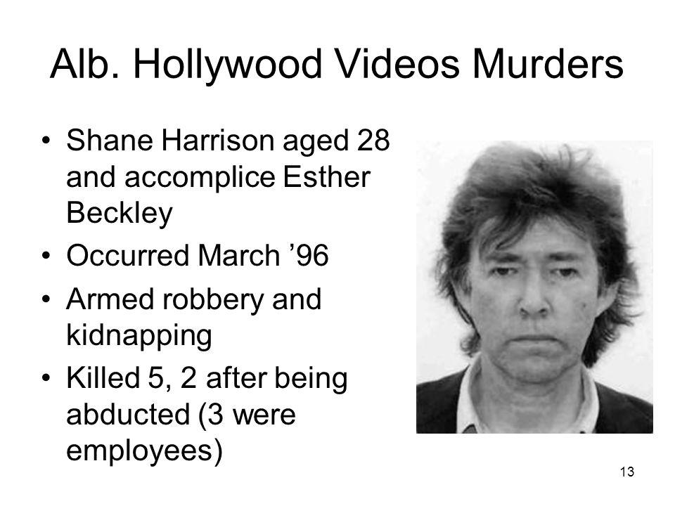 Alb. Hollywood Videos Murders
