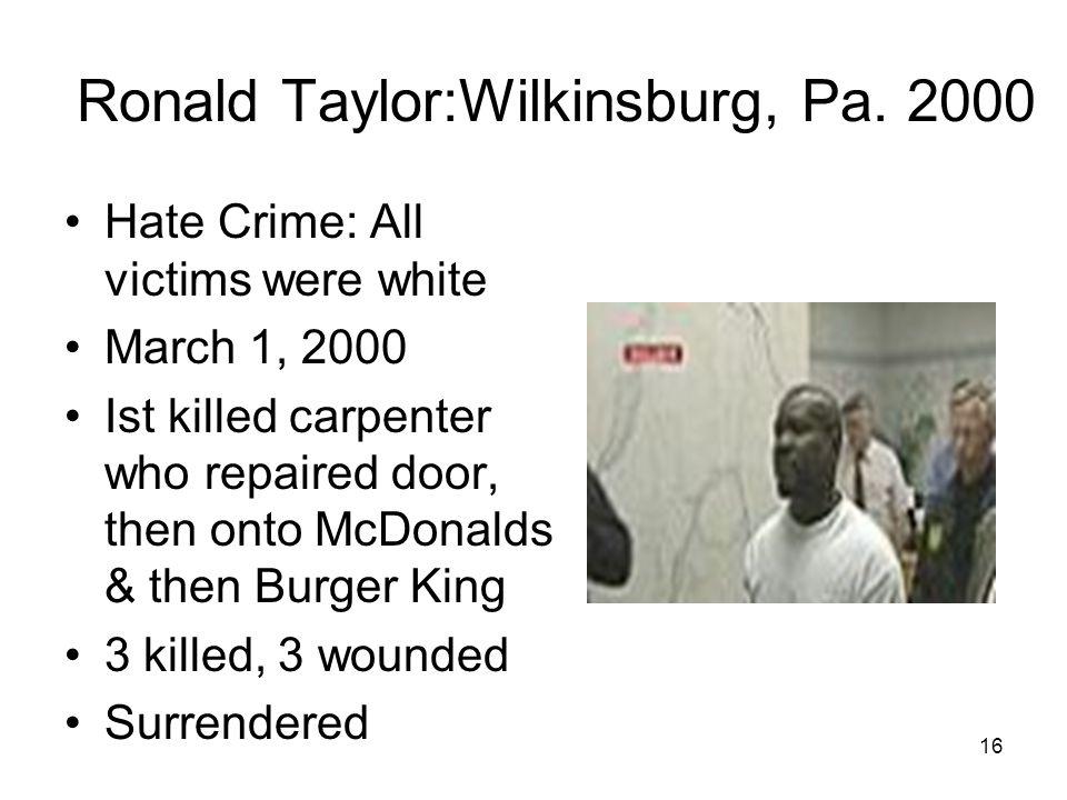 Ronald Taylor:Wilkinsburg, Pa. 2000