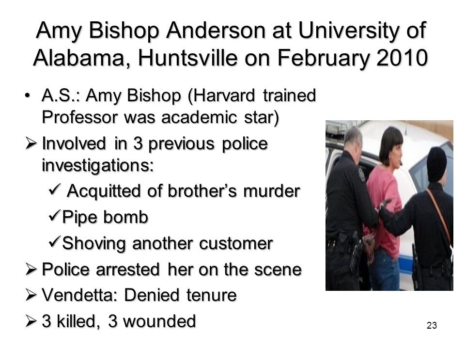 Amy Bishop Anderson at University of Alabama, Huntsville on February 2010