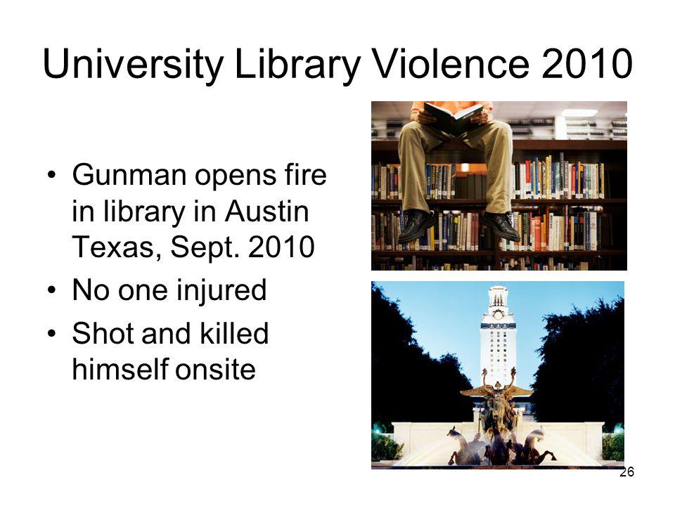 University Library Violence 2010