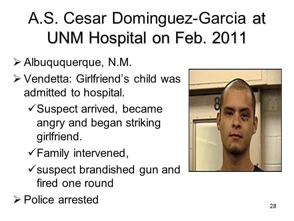 A.S. Cesar Dominguez-Garcia at UNM Hospital on Feb. 2011