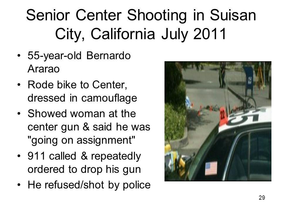 Senior Center Shooting in Suisan City, California July 2011