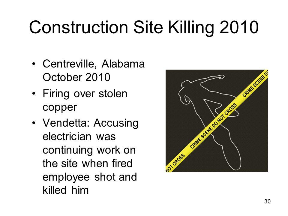 Construction Site Killing 2010