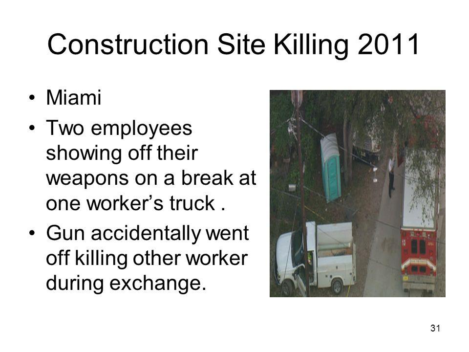 Construction Site Killing 2011
