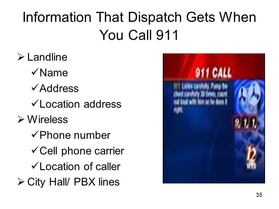 Information That Dispatch Gets When You Call 911