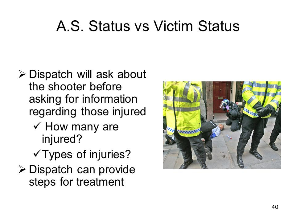 A.S. Status vs Victim Status
