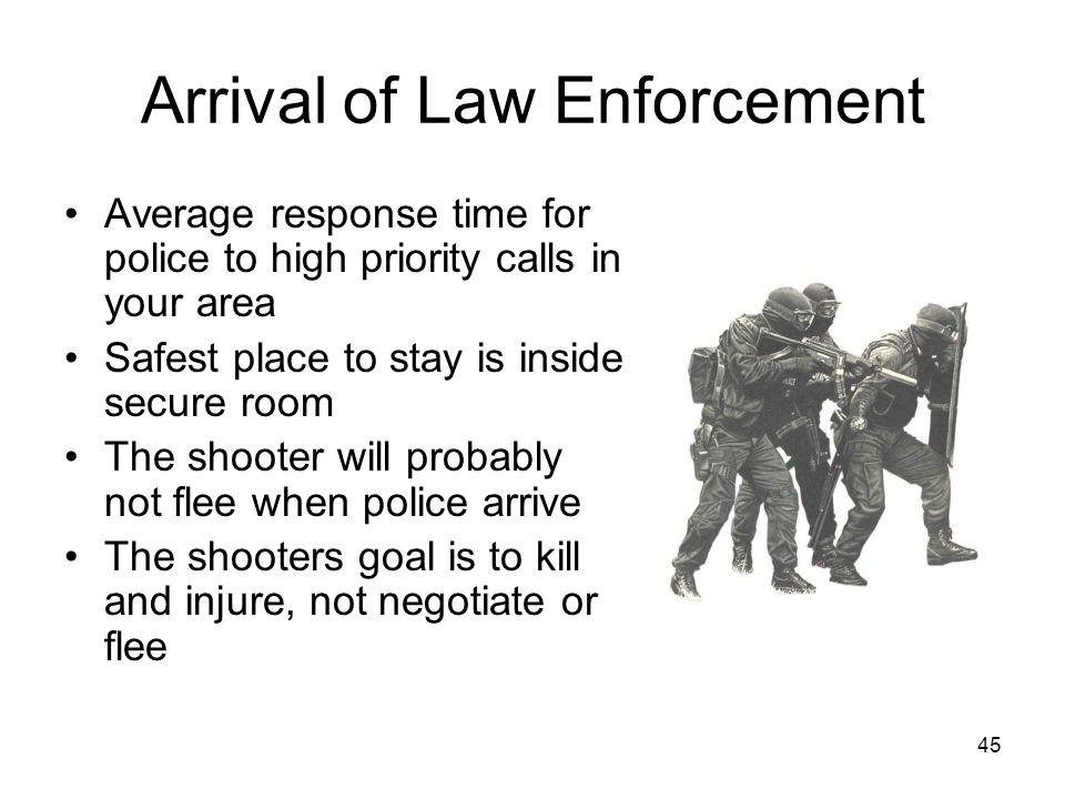 Arrival of Law Enforcement