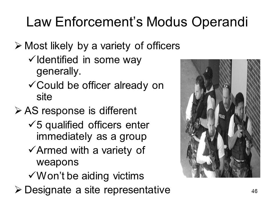 Law Enforcement's Modus Operandi