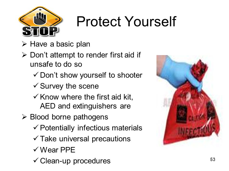 Protect Yourself Have a basic plan