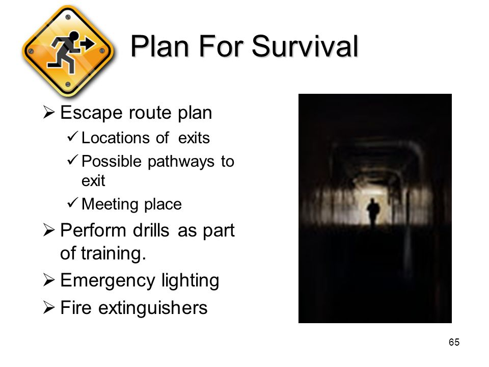 how to plan an escape route