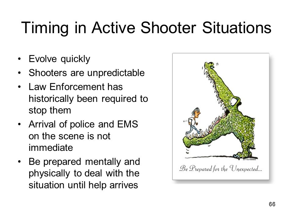 Timing in Active Shooter Situations
