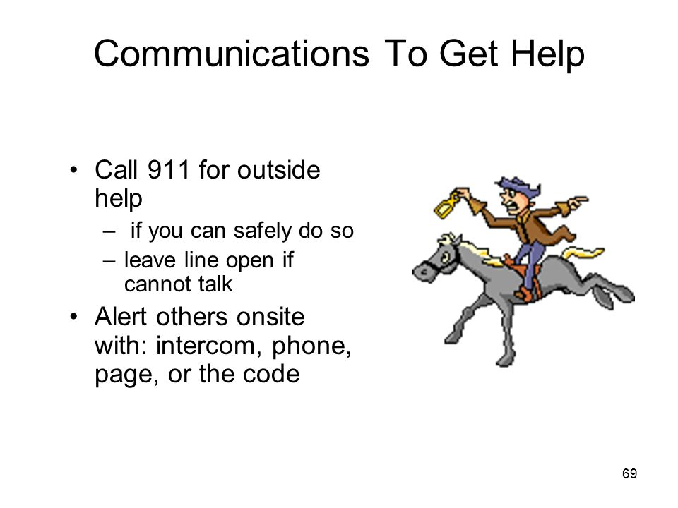 Communications To Get Help