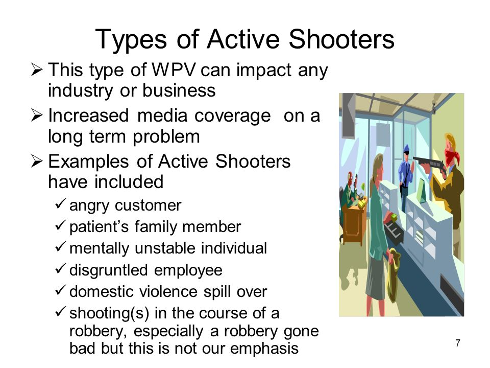 Types of Active Shooters