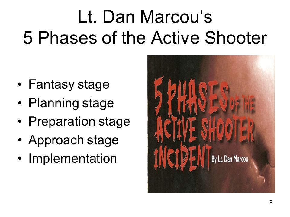 Lt. Dan Marcou's 5 Phases of the Active Shooter