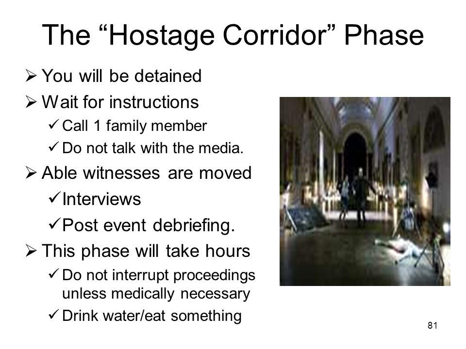 The Hostage Corridor Phase