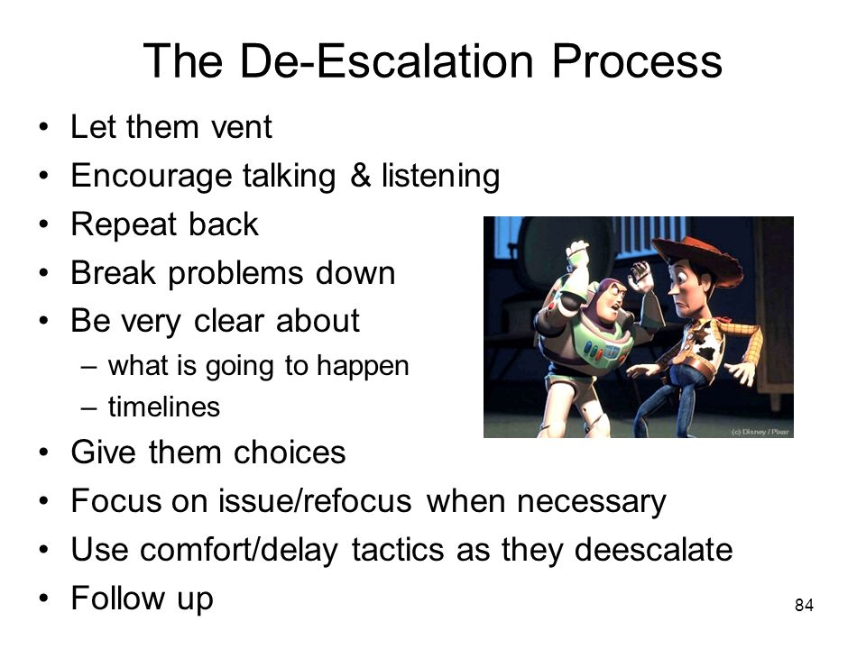 The De-Escalation Process