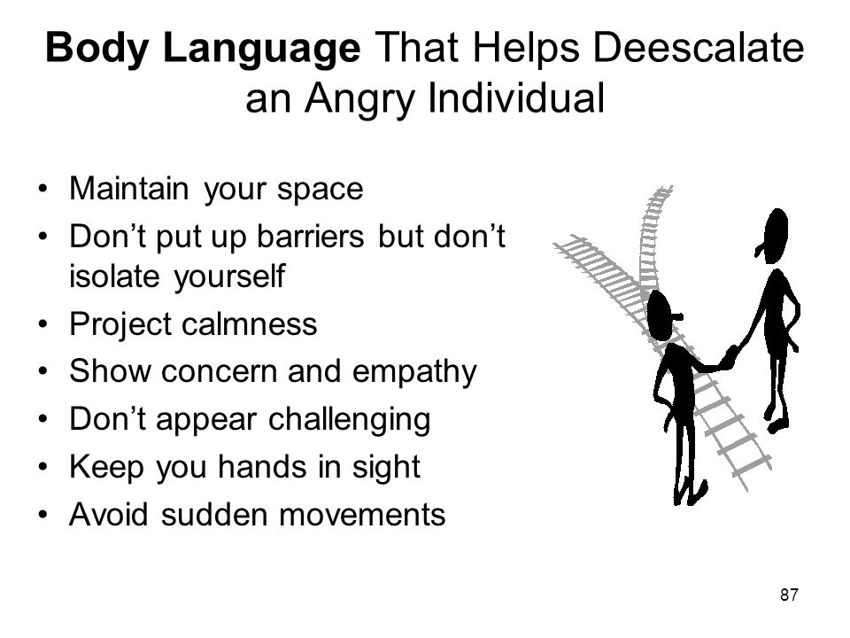 Body Language That Helps Deescalate an Angry Individual