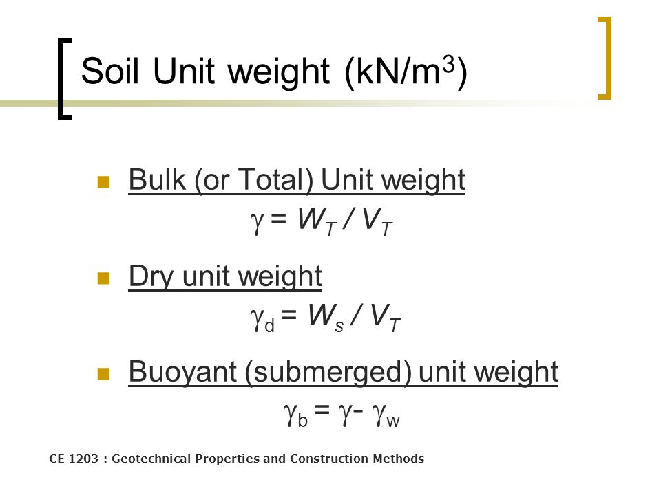 Soil Composition Ce1303 Engineering Material Properties