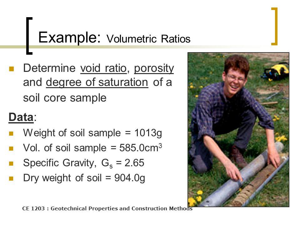 Example: Volumetric Ratios