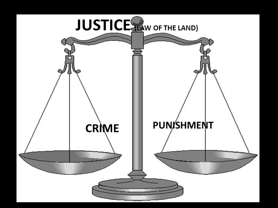 JUSTICE (LAW OF THE LAND)