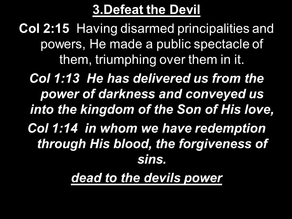 dead to the devils power