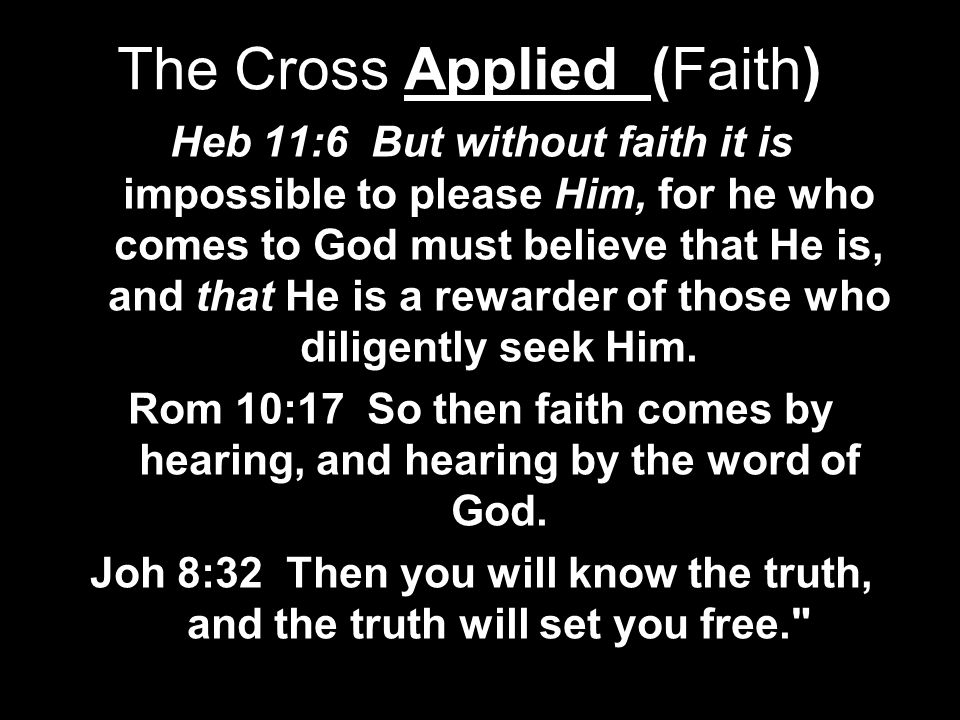 The Cross Applied (Faith)