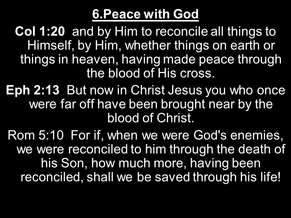 6.Peace with God